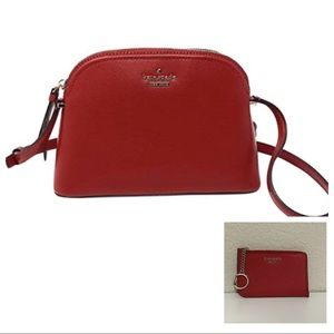 Kate Spade Red Peggy Patterson Dr & L-zip Wallet